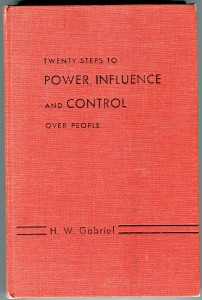Power Influence Control- The beginning of Self Help?